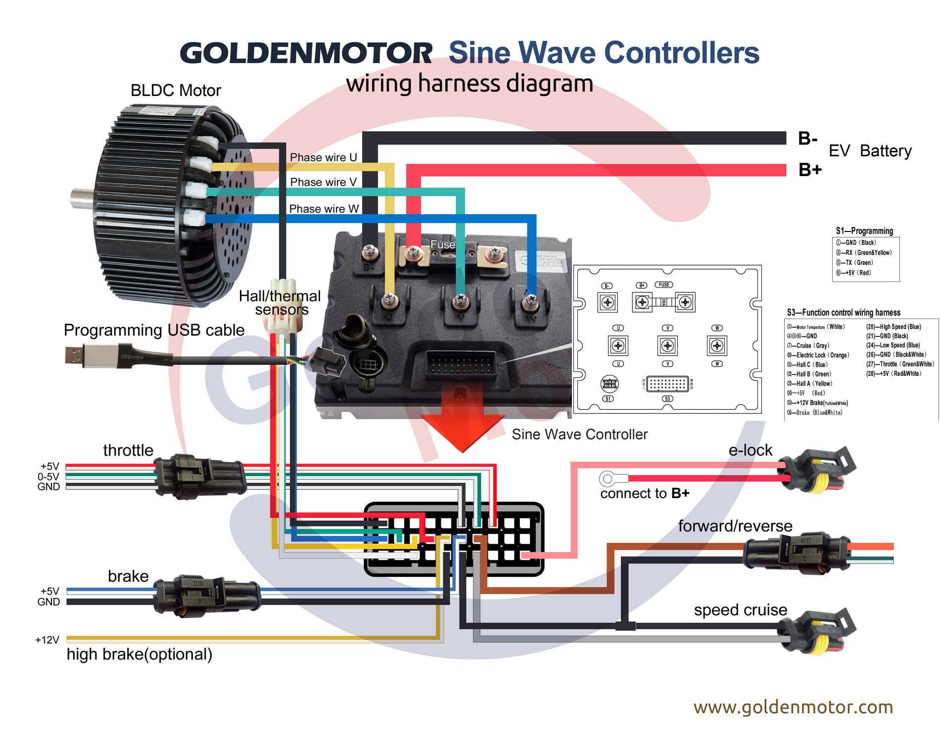 wiring diagram for motor controller