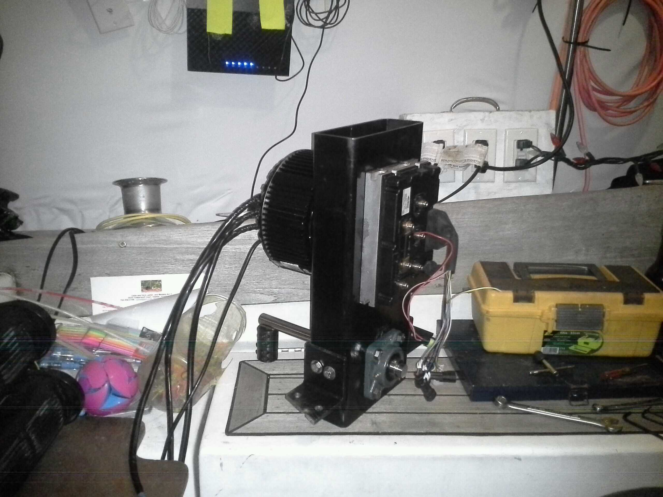 fully assembled motor, not connected or installed